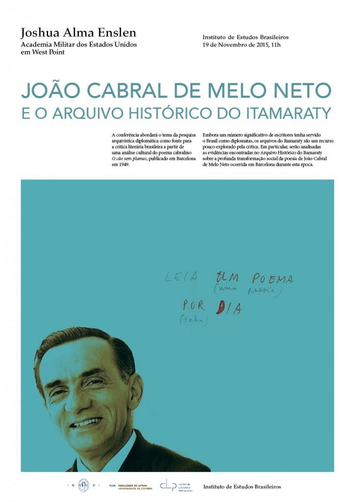 IEB_Conferencia de Joshua Enslen sobre Joao Cabral